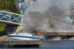 Tulipalo Kuopion satamassa valokuvaaja Petri Jauhiainen